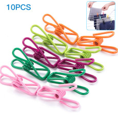 10pcs Multi-purpose Colorful Clips  Clothes Drying Hanger for Home Laundry Toolswire Clips Windproof ,kitchen Bags Hooks ,sealing Clip
