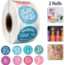 Thank You Stickers,16 Designs 1 Inch Thank You Sticker Roll for Business,1000 Pcs Thank You Labels for Gifts Bags,Envelopes,Bubble mailers& Bags