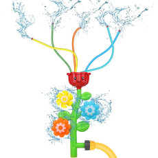 Rotating Water Spray Toy, Children's Water Toy, Baby Bath Toy, Shower Game for Bathtub Bathroom Outdoor Garden Toy