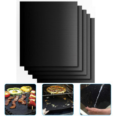 5Pack Large Grill Mat, Non Stick BBQ Grill Mat, Reusable Dishwasher Safe Baking, Spill Mats Barbecue Grill Mat kichen Accessories