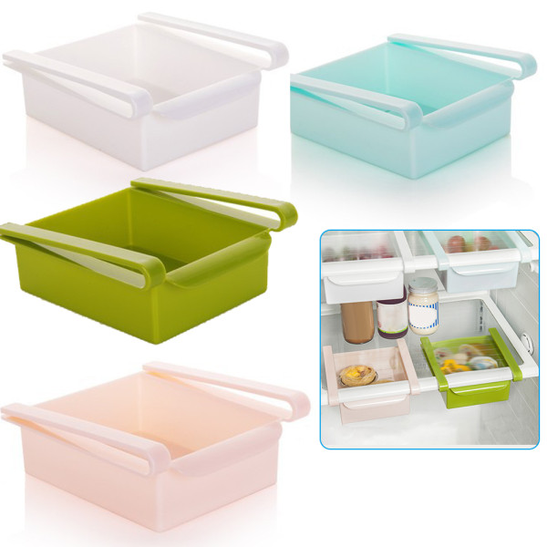 Fridge Sliding Drawer,  Refrigerator Organizer ,Storage Rack Food Container Kitchen Storage & Organization Accessories