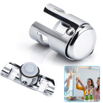 2 PCS Stainless Steel Champagne Stopper, Wine Bottle Stopper, For Wine, Beer, Sparkling Wine, Silver