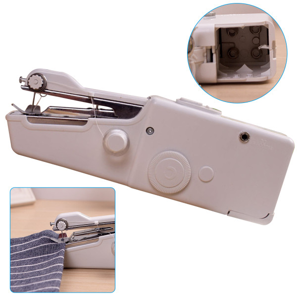 Mini Handheld Sewing Machine, Multifunctional Household Sewing Machine, Electric Small Sewing Machine for Denim Curtains Leather
