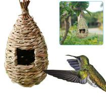 Hand Woven Hummingbird House, Outdoor Incubator, Hummingbird House,Natural Bird Hut Outdoor,Birdhouse for Kids,Songbirds House