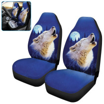 Blue Moon Wolf Car Seat Cover, Car Seat Cover Front Seats Universal Bucket Seat Protector