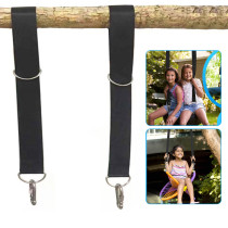 2 Pcs Tree Swing Strap Hanging Kit Holds,5FT Adjustable Tree Swing with Two Heavy Duty Stainless Steel Hooks That can Withstand 2,000 Pounds,Suitable for All Type of Swings.