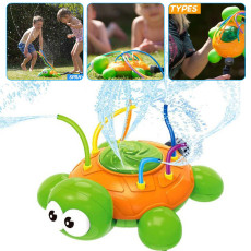 Outdoor Water Sprinkler Toy, Backyard Lawn Spinning Turtle Water Spray Toy, Hose Spray Toy