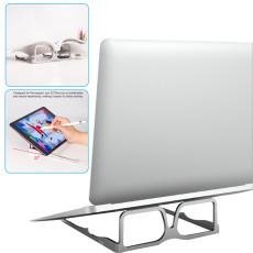 Adjustable Foldable Laptop Stand Glasses Shape,  Folding Alunimum alloy Bracket for laptop  design Support for notebook Lightweight Stand Holder