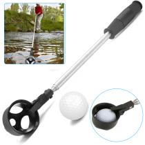 Golf Ball Retriever, 2M Telescopic Stainless Steel Shaft Scoop Golf Ball Retriever Golf Pick Up Scoop Accessories.