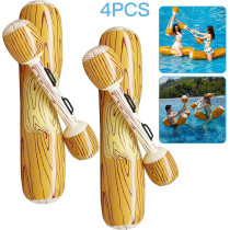 4 Pcs Wood Pattern Swimming Ring, PVC Pool Party  Non-slip Adult Children Game Raft Floating Children Water Toy