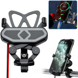 Bike Phone Mount Cell Phone Holder for Motorcycle - Bike Handlebars, 360° Adjustable Universal Motorcycle Phone Mount