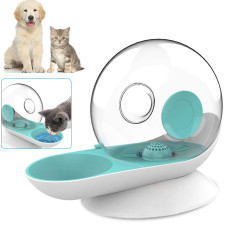 Cat Dog Water Dispenser, Snail Shape Cats Water foutains with Non-Rust Spring, Automatic Pet Water Feeding for Cats Dogs (Green)