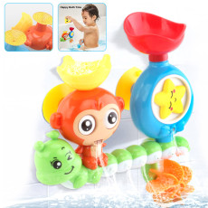 Children Bath Toys, Cute Monkey Turn Around Happy Bath Toy, Children Playing in Water Toys