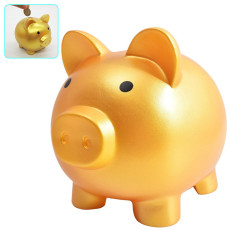 Little Golden Piggy Bank, Plastic Pig Money Bank for Boys Girls Kids Adults