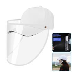 Face Protection Shield Hat, Anti Saliva Splash Fog UV Baseball Cap with Removable Black