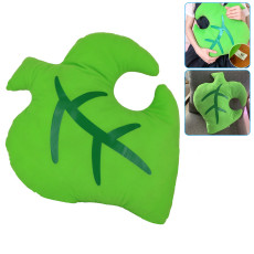 Leaf Plush Pillow, Green Plushie Stuffed Animal Plush Toy Pillow Doll Home Decoration