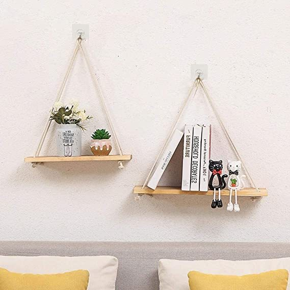 Leaf Plush Pillow,, Flower Pot Rack Wall Shelf Home Decor with Hanging Rope Fire Pit & Outdoor Fireplace Parts