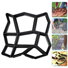 Walk Maker, Reusable Concrete Path Maker Molds Stepping Stone Paver Lawn Patio Yard Garden DIY Walkway Pavement Paving Moulds