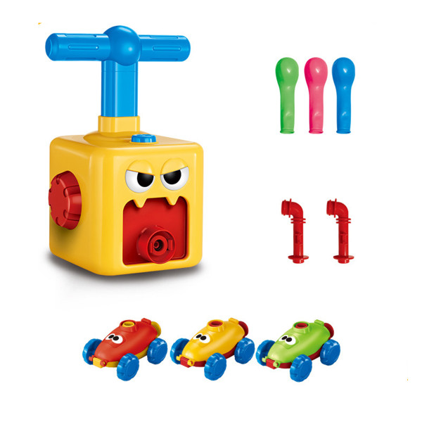 Balloon Powered Cars, Balloon Racers Aerodynamic Cars Stem Toys Party Supplies Preschool Educational Science Toys with Manual Balloon Pump for Kids Boys Girls 3+ and Classroom