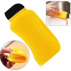 3-in-1 Kitchen Multifunctional Silicone Brush, Double-Sided Dish Cloth Non-Oily Scouring Pad Wash Cleaning Tool