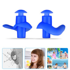 4PCS Swimming Earplugs,Waterproof Reusable Silicone Swimming Ear Plugs for Swimming Showering Bathing Surfing Snorkeling and Other Water Sports,Suitable for Kids