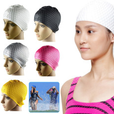 Silicone Swim Cap, Swimming Cap Suitable for teenagers/adults over 12 years old, Comfortable Bathing Cap Ideal for Curly Short Medium Long Hair
