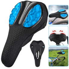 Bike Seat Cover, Thickened Extra Comfort Ultra Soft Silicone 3D Gel Pad Cushion, for Mountain Bike Seat