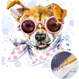 DIY 5D Diamond Painting, Perfect DIY Gift for Adults and Kids,Share Happy Time with Your Family or Friends(Dog)
