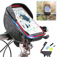 Bicycle Bag Water-Repellent Touch Screen Mobile Phone Bag Mountain Bike Front Beam Bag Riding Handlebar Bag