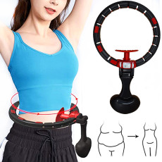 Smart Hula Hoop Non Dropping Hula Hoop with Auto Counting Detachable Loss Weight Fitness Equipment Adjustable Waist Training