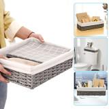 Bathroom Storage Organizer Basket, Bin Toilet Paper Basket Storage Basket for Toilet Tank Top Decorative Basket for Closet, Bedroom, Bathroom, Entryway, Office