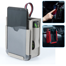 Air Outlet Pocket, In-car Multifunctional Car Mobile Phone Storage Bag Hanging Bag Creative Storage Box