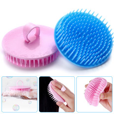 Hair Scalp Brush, Dandruff Cleaning Brush Head Massage Comb, Shampoo Massage Brush, Anti-dandruff and Anti-itch Brush Pack of 4(Blue,Green,Yellow,Pink)