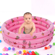 Round Inflatable Swimming Pool, Portable Inflatable Children Pump Pool,Kiddie Paddling Pool Indoor&Outdoor Toddler Water Game Play Center for Kids