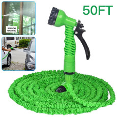Expandable Garden Hose Spray Gun, Multi-Function High-Pressure Car Wash Water Gun Garden Watering Expanding Flexible Hose