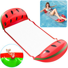 Water Hammock, Inflatable Pool Floats in Fruit Shape, Comfortable Floating Chair for Adults and Kids, Fun Backyard Swimming Pool Raft