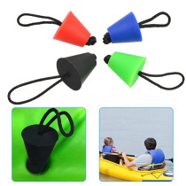4PCS Universal Kayak Scupper Plug Kit, Kayak Scupper Plug Kit Canoe Drain Holes Stopper Bung (Black+ Red+ Green+ Blue)
