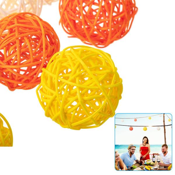 10 PCS Multicolor Rattan Ball, Craft Wedding Birthday Party Home Decorations DIY Ornaments Festival Decor Kids Toys