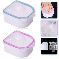 2pcs Soaking Soak Bowl, Nail Art Polish Remove Wash Soaker Tray Manicure Spa Tool