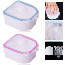 2pcs Soaking Soak Bowl, Nail Art Polish Remove Wash Soaker Tray Manicure Spa Tool
