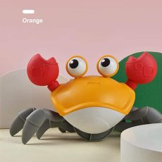 Baby Bathtub Toy, Cartoons Crab Cute Swim Big Crab Cable Learning to Walk Baby Bath Clockwork Toys Infant Water Classic Toy for Children