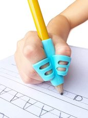 Pencil Grips for Kids Handwriting, Pencil Holder for Kids, Handwriting Grip, Ergonomic Training Pencil Grip, Writing Tool for Toddlers, 3 Pack, With a Set of 5 Small Pen Holders