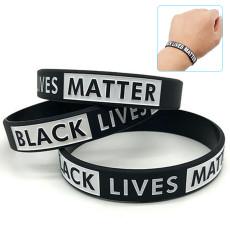 5 PCS Peace Bracelet, Lives Matter Silicone Bracelet Black Rubber Bangle,  Movement Silicone Wristbands Bracelets Awareness Support Wristband Bracelets