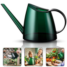 Watering Can for House Bonsai Plants, Small Watering Can with Long Spout Succulents Decorative Garden Flower 1/3 Gallon 1.4 L Modern Watering Pot Green