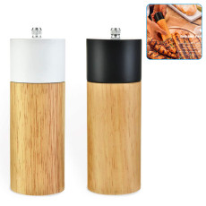 2pcs Pepper Mill and Salt Grinder Set, pepper mill kit Manual Wooden Rotor with Adjustable Coarseness