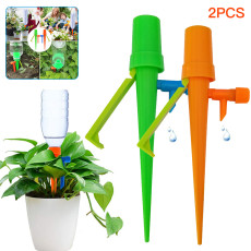 5PCS Automatic Watering Device, Plant Self Watering Spikes System Non-stop Water, with Slow Release Control Valve Switch, Adjustable Water Volume Drip System for Outdoor Indoor Plants