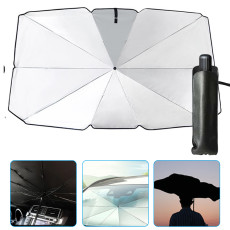 Car Windshield Sun Shade, Anti-UV Rays and Foldable Heat Sun Visor Protector