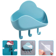 2 PCS Cloud Shape Soap Box, Punch-Free Key Holder Home Storage Dishs Bathroom Kitchen Holder Tray Accessories Bathroom Gadgets