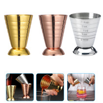 Stainless Steel Cocktail Glass, Stainless Steel Ounce Cup, Bar Cocktail Tool, Graduated Measuring Cup