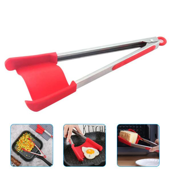 Silicone Kitchenware Food Clip, Food Shovel Silicone Pan Shovel Food Clamp Kitchen Tool Cooking Accessory